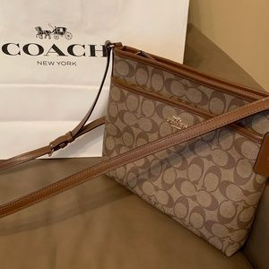Coach Signature File Crossbody